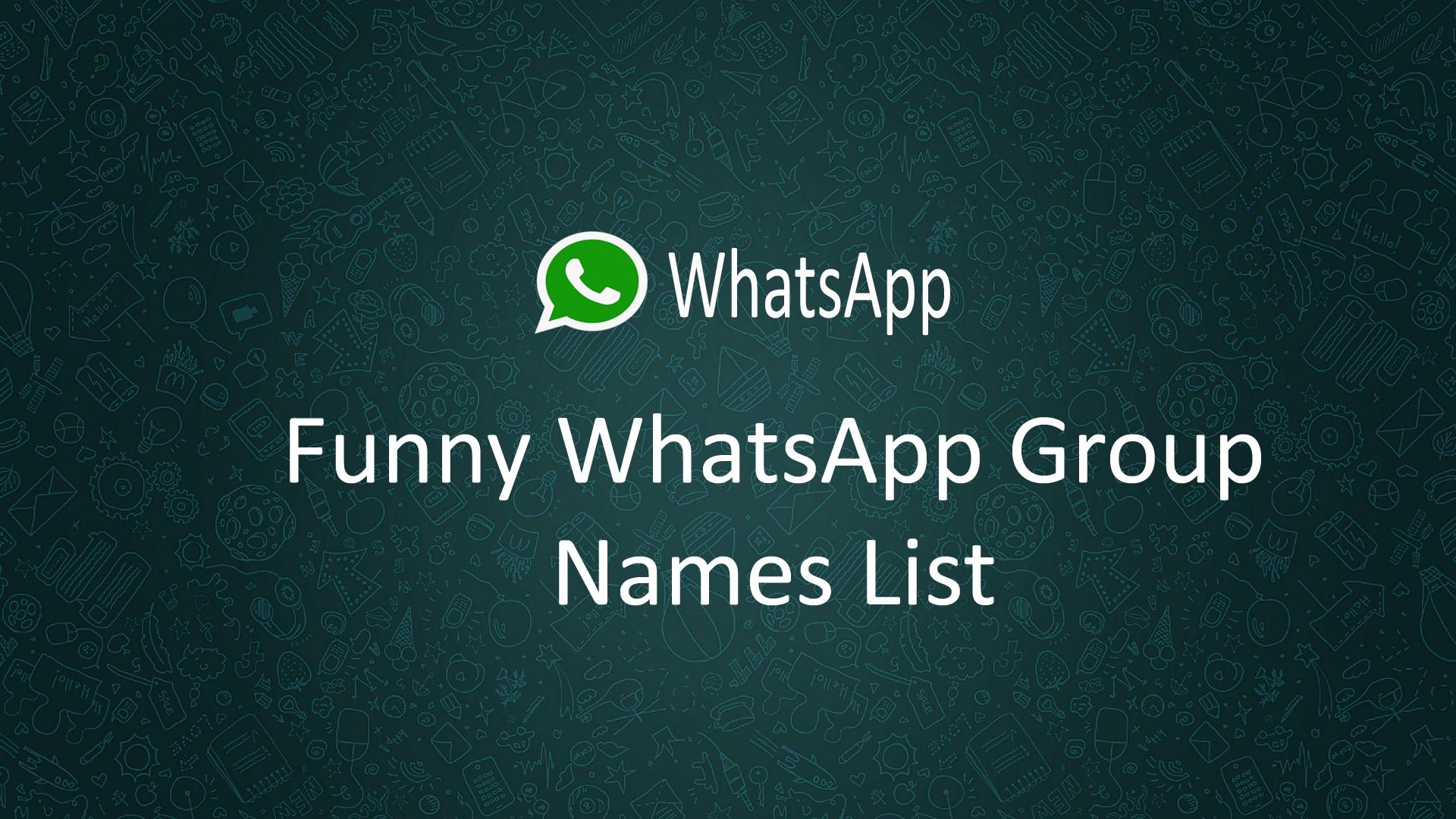 Unique Group Names List