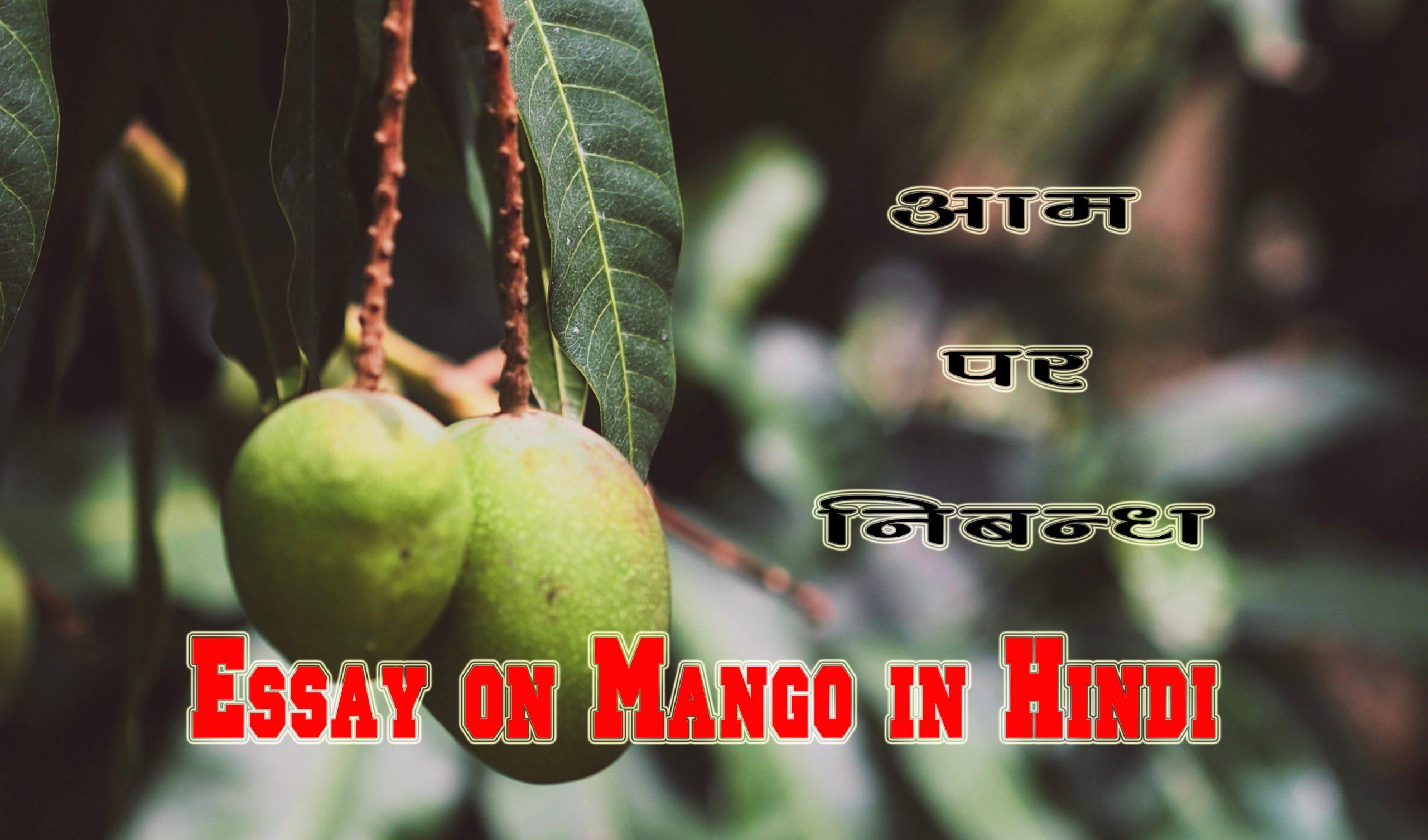 Essay on Mango in Hindi