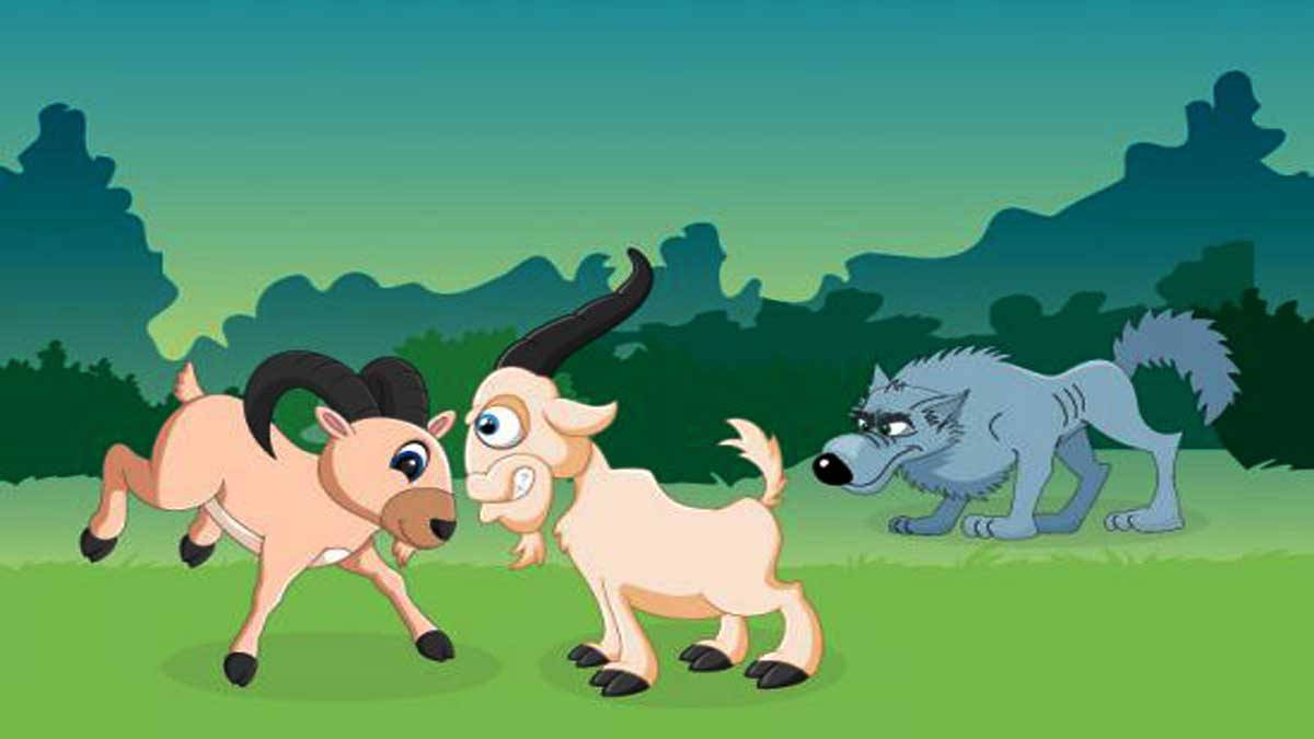 Fighting Goats and the Jackal Story In Hindi