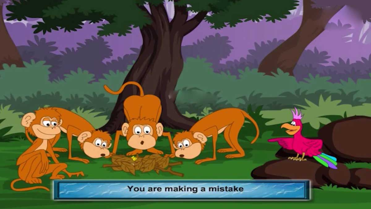 The Bird and the Monkey Story In Hindi