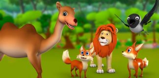The Lion, Camel, Jackal And Crow Story In Hindi