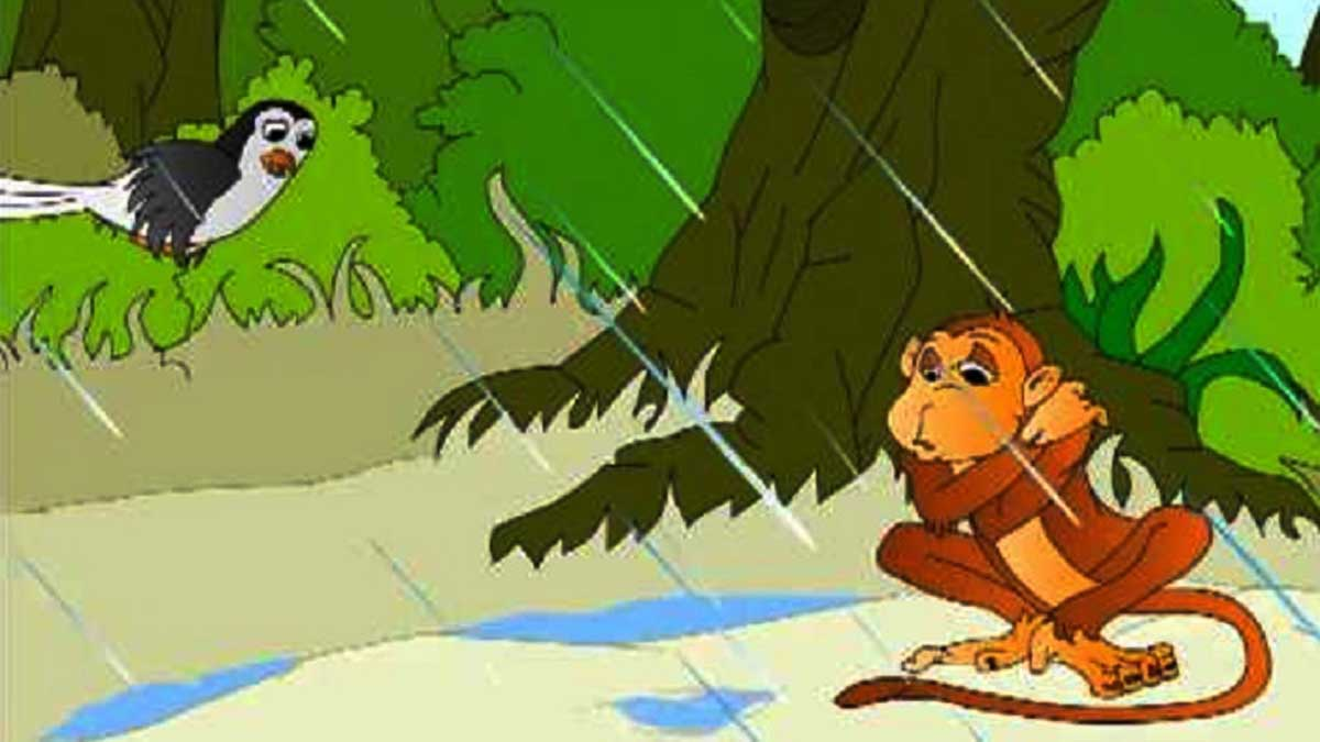 The Sparrow And The Monkey Panchatantra Story In Hindi