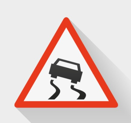 slippery-road-sign