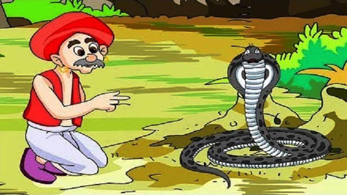 Brahmin And The Cobra Story In Hindi