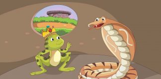 The Greedy Cobra and Frog King Story In Hindi