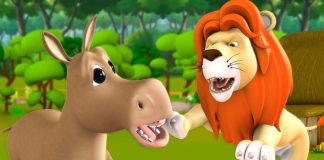 The Lion and the Foolish Donkey Story In Hindi