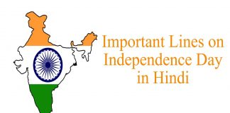 Important lines on Independence Day in Hindi