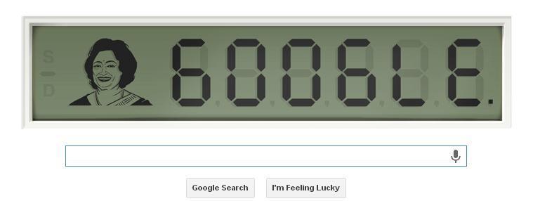 shakuntala devi google doodle