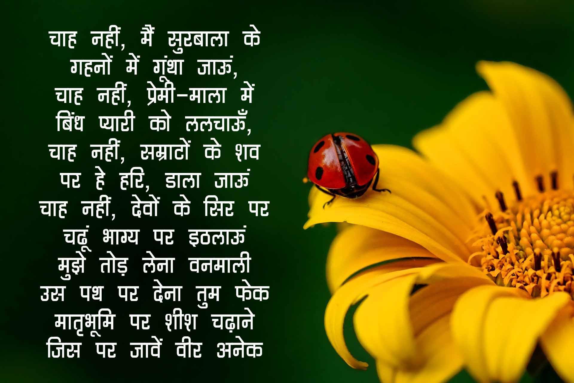 Hindi Poem on Flowers