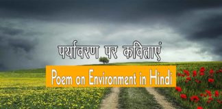 Poem on Environment in Hindi