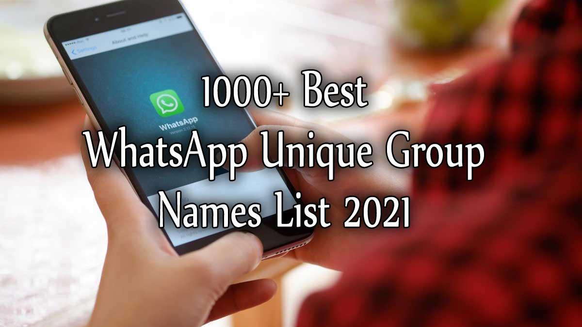 500+ Best WhatsApp Unique Group Names List
