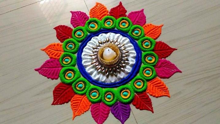 Diwali Rangoli Simple