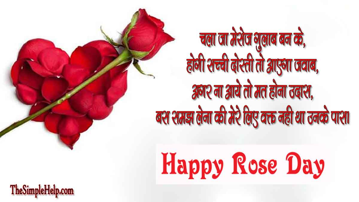 Rose Day Shayari and Pictures