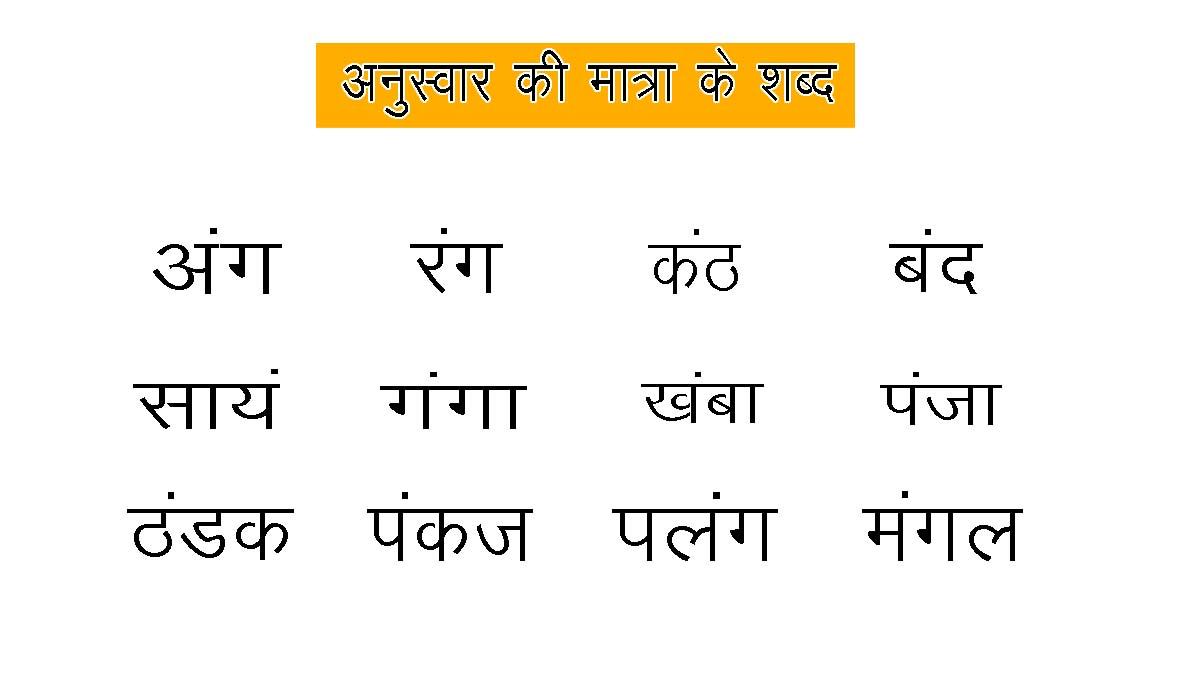 Anuswar Shabd