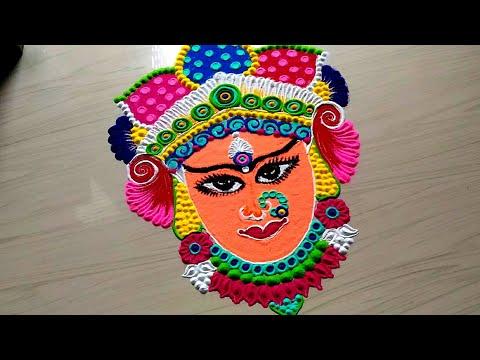 Holi Rangoli Easy Designs