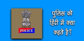 police meaning in hindi