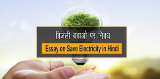 Essay on Save Electricity in Hindi