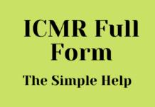 ICMR Full Form In Hindi