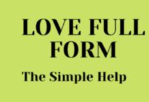 LOVE FULL FORM IN HINDI