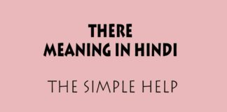 There Meaning in Hindi