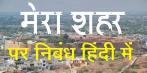 Essay on My City in Hindi