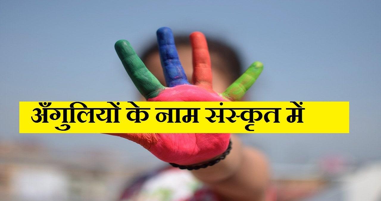 Finger Name in Sanskrit