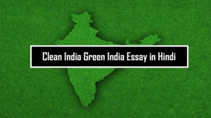 Clean India Green India Essay in Hindi