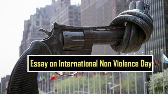 Essay on International Non Violence Day in Hindi